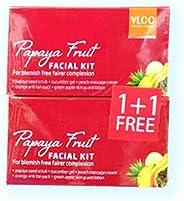 VLCC Papaya Fruit Facial Kit - Pack of 2 Boxes 2 x 50 gm