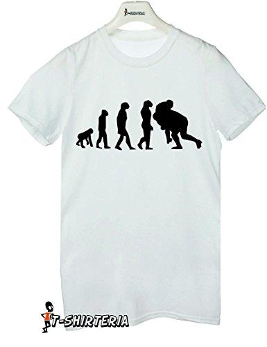 t-shirt humor Evolution Rugby, sport, evoluzione - le taglie uomo donna maglietta by tshirteria