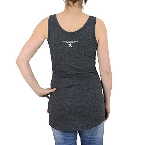 Yakuza Premium Tank Top Damen Shirt GS 1939 dunkelgrau fällt 1 Nr kleiner  aus eng geschnitten Dunkelgrau