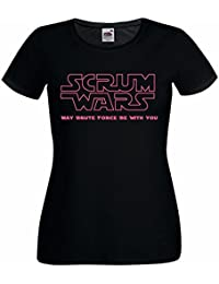 Ladies Scrum Wars Rugby League Union 6 Nations T Shirt
