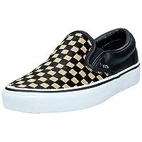 VANS Classic Slip-On Women's Athletic & Outdoor Shoes, Multicolour (Checkerboard/White U76), 5 UK (38 EU)