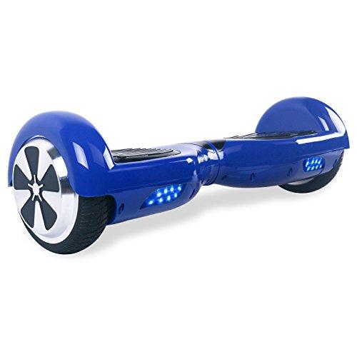 """BEBK Hoverboard 6.5"""" Patin Electrico,2*350W Motor LED, batería de litio y autonomía de 12 Km/h,Scooter eléctrico Self-Balance (Azul)"""