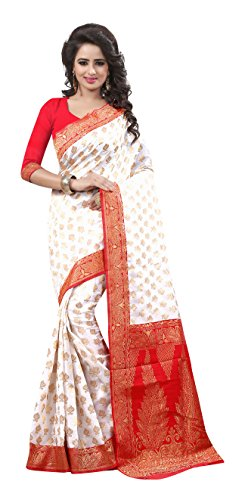 Rajgharana Saree House Silk Saree (Durga Puja Special 2_White)