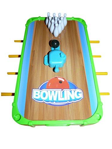 A140K Bowling Kegel Spiel Tisch 5in1 Set mit weiteren Sport Spielen wie Basketball Golf Eishockey Fußball