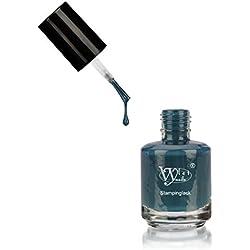 Esmalte para estampado de Vylet-Nails, Verde, 15 ml, endurece al contacto con el aire