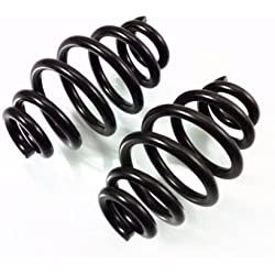 "Black 3"" Spiral Solo Seat Springs Chopper Bobber Softail Sportster CB Old School"