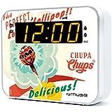 Muse M de 165CC Chupa Chups portable Radio réveil avec bernsteinfarbenem Écran LED et variateur Multicolore
