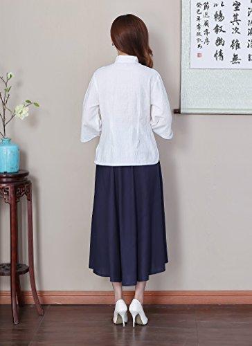 ACVIP Femme Rétro Veste de Tang Chemisier Style Nation Traditionnel Top A