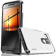 Nexus 5X Funda, evocel® [Dual Layer Series] Hybrid Armor Protector Carcasa para LG Nexus 5X (2015), compatible con LG Nexus 5X, color Blanco