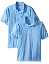 Hanes Men's Short Sleeve Jersey Polo (Pack of 2)
