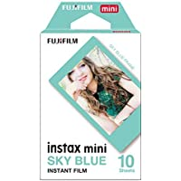 Fujifilm Instax Mini Instant Film, Blue, Single Pack
