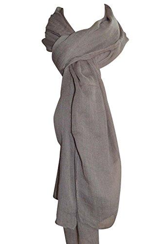 Femme - Foulard - Douce - étole - pashmina - écharpe - cache-col Couleurs au choix Taupe