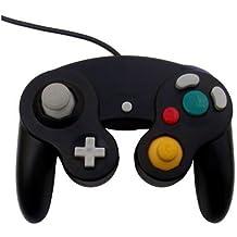 OSTENT Wired Choc Classique Controller Gamepad Joystick Joypad Compatible pour Nintendo GameCube NGC Wii Console Jeux Vidéo Couleur Noir