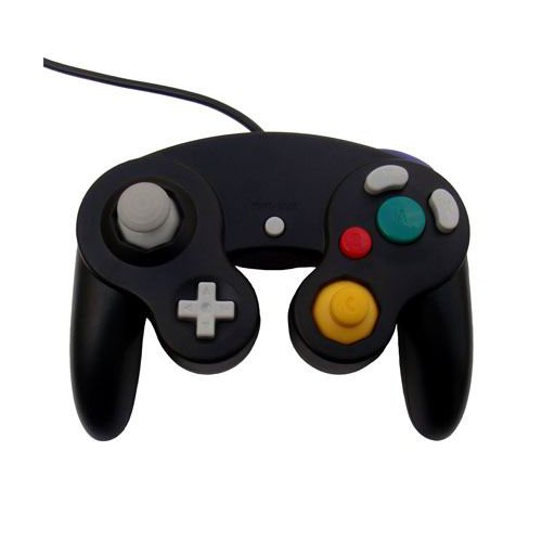 OSTENT Wired Schock Klassisch Controller Gamepad Joystick Joypad Kompatibel für Nintendo GameCube NGC Wii Konsole Videospiele Color Schwarz