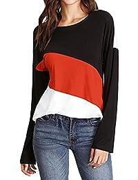 ZIYOU Kurzarm Oberteile Damen, Frauen Chiffon Tops Bluse/Beiläufig Tanktops Pullover O-Ausschnitt T-Shirt Sport