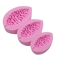 Hifuture 3 empresas moldes de silicona rosa media forma de conos de pino molde para tartas pan mousse chocolate molde para hornear arcilla epoxi colgante decoración de Navidad