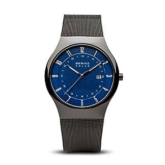 BERING Reloj Analógico para Hombre de Energía Solar con Correa en Acero Inoxidable 14640-227