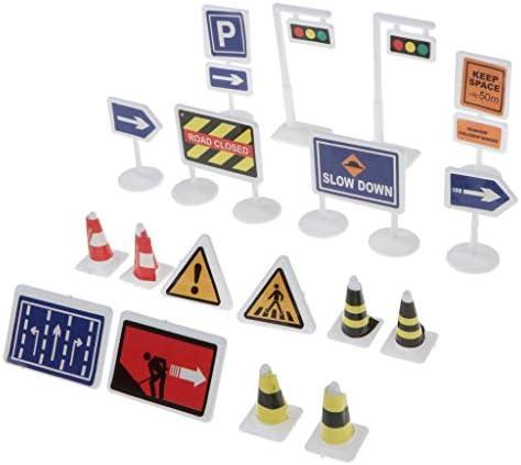 B Blesiya 18pcs Panneau Panneau Panneau de Signalisation Modélisme Route Chemin de Fer Accessoire Signaux | Authentique  fdd410
