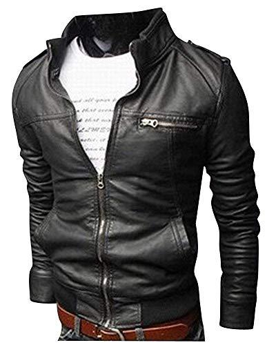 Lannister cappotto giacca in pelle abbigliamento festivo da uomo giacca da moto per il tempo libero giacca da motociclista in pu caldo antivento cappotto di transizione moderno antivento slim fit