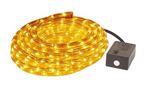HQ-Power VDLRL28Y Lichtschlauch mit Wasserdichte Buchse und Steuergerät, 2 Kanäle, 8 m Länge x 13 mm Durchmesser, Gelb
