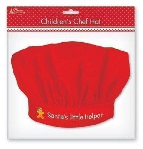 ostüm Kochmütze Und Schürze Rot Kleine Weihnachtsmann Helfer (Lebkuchen Mann Kostüme)