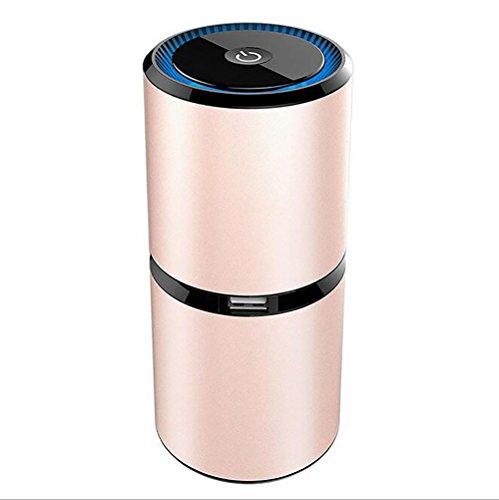 XIAOYA Ionische Luftreiniger Auto Lufterfrischer Entfernen Rauchen Staub Po Llen Und Schlechte Gerüche Für Ihre Auto Oder RV,Pink -