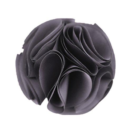 Pin Brosche Rote Blume (Merdia Weinlese-Silk Blume Haarspangen und Broschen Pin (grau))