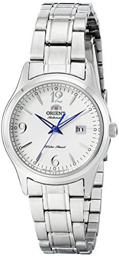 Orient Women's 31mm Steel Bracelet & Case Automatic White Dial Analog Watch FNR1Q005W0