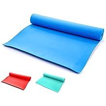 meteor - Esterilla de yoga: Ligera y duradera colchoneta de gimnasia, material de eva con los bordes son con plástico, plegable y fácil de transportar, muy ancha 180 x 60 x 0,4 cm, probada marca