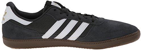 Adidas Seeley Black1 / runwht / black1 Skate Shoe 4 Us Dark Grey Heather Solid Grey/White/Gum