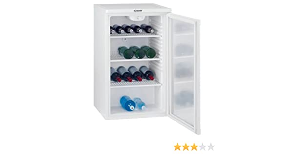 Bomann Kühlschrank Glastür : Bomann ksg flaschenkühlschrank kwh jahr l weiß