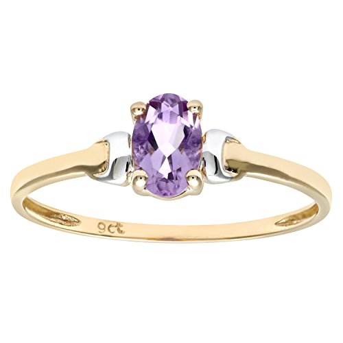 Citerna Damen-Ring 9 K 375 Bicolor Amethyst Gr. 48 (15.3) PR02367YW AM-I