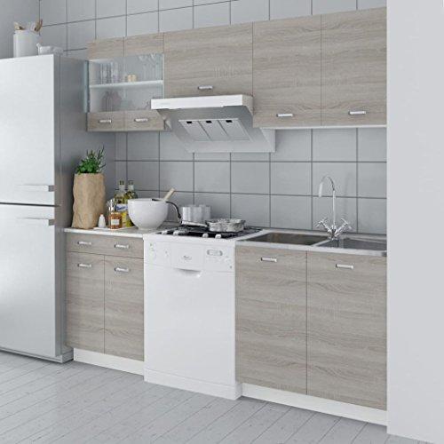 FZYHFA Cuisine Complète 5 pièces Aspect chêne 200cm meubles cuisine complete meubles cuisine compl