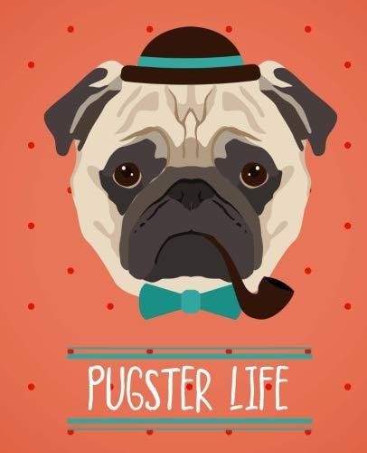 Pugster Life   Hipster Pug Notebook   College Ruled: 150 Pages - 7.5x9.25   Creative Artist Gifts   Entrepreneur Notebook   Cute Notebook   Colorful Art   Pug Notebook   Student Gift   Cute Dog - Foxy Hipster