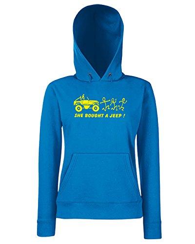 T-Shirtshock - Sweats a capuche Femme FUN0606 anti stick family die cut decal 04 53132 Bleu Royal