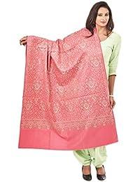 Weavers Villa Women's Jamdani Shawls (Pink, Large)