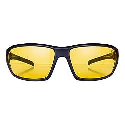 fd52537e67 43%off Tom Martin UV-400 Protected Sunglasses -Hector - Sports Wrap Matte  Black (Men