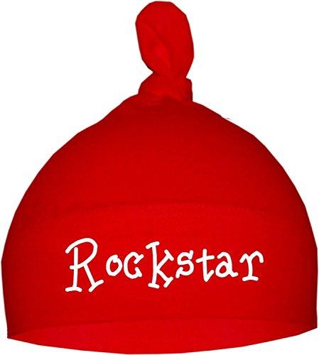 KLEINER FRATZ Baby Mütze (Farbe rot) (Gr. 0-18 Monate) Rockstar/ENGL