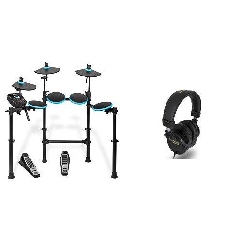 Preisvergleich Produktbild Alesis DM Lite Kit | Komplettes E-Drumset mit zusammenklappbarem Rack, USB MIDI Drumsound Modul, Drum Sticks + Marantz Professional MPH-1 Geschlossener ohrumschließender Studiokopfhörer Bundle