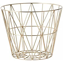 Ferm Living Wire Basket - Brass - Medium - h40 x b50 cm