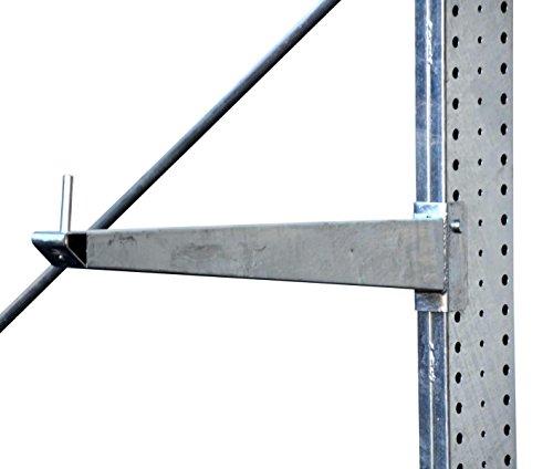 3,3m Kragarmregal verzinkt, 300cm hoch, 100cm tief, 3 Kragarmebenen – Langgutregal Schwerlastregal - 4