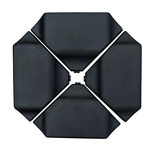 SORARA Dalles Poids Poids pour Le Parasol avec la Base croisée | Noir | 4 pièces Remplissable avec du Sable | 120 kg