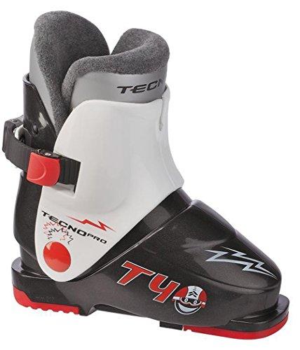Tecno Pro Skistiefel T40 Kinder Skischuh (Farbe/Größe: 902 schwarz/Weiss - 27 Mondopoint-41 Schuhgröße)