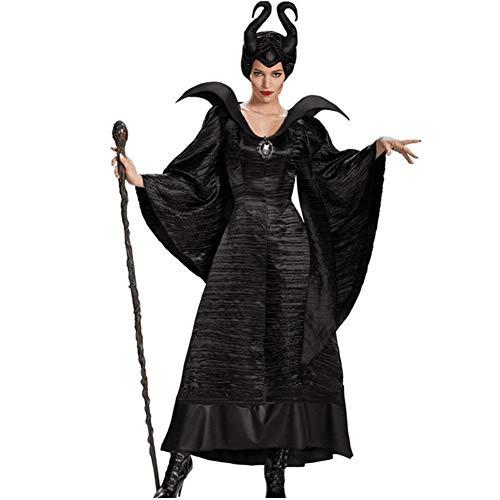 stüme Schlaffluch Dunkle Hexe Kostüme Cosplay Hörner Hexen Uniformen ()