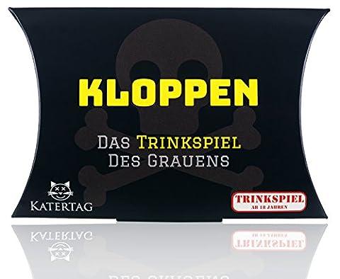 Kloppen - Das Trinkspiel des Grauens, Das actiongeladene Reaktionsspiel für Erwachsene ab 18 Jahren, lustiges Partyspiel Karten-Spiel / Katertag Trinkspiele (56 Karten,