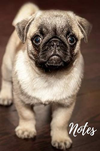 Pug Journal: cute gift for animal and dog puppy lovers (blank lined journal) (120 pages) great for writing notes and ideas at home or school homework ... and women / practise handwriting and more