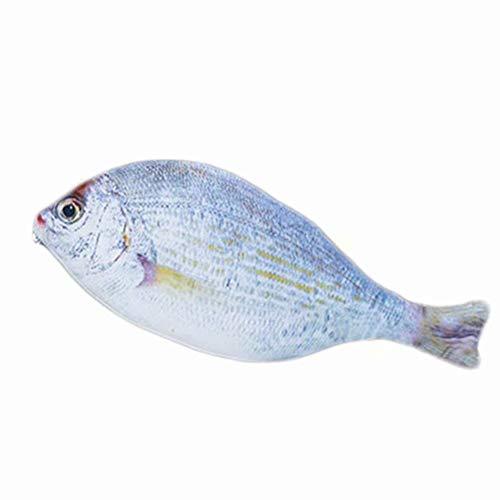 (Leisial Etui Bleistifttasche Fischmotiv Tasche Karpfen Stifthalter für Kinder lustiges Geschenk Aufbewahrungstasche (Silber Fisch))