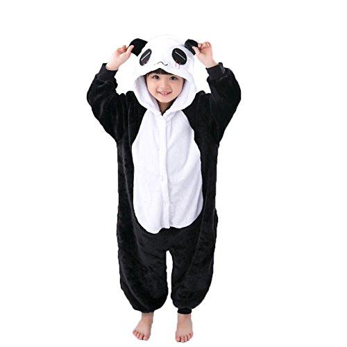 Panda Kostüm Erwachsene Tier Jumpsuits Onesie Pyjama Für Kinder (XXL(Geeignet für 138cm-148cm Höhe))