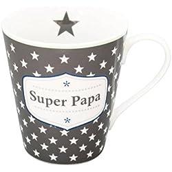 Krasilnikoff - Tasse, Becher, Henkelbecher, Mug - Super papa - Porzellan