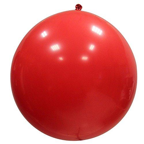 Vococal - 3 Piezas 36 Pulgadas Globos Grande Gigante Circular Látex Globo,Globos de Fiesta / Decoraciones del Carnaval / Sesión Fotográfica / Banquete de Boda (Rojo)